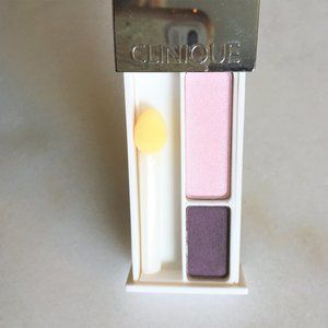 3/$36 - New! Clinique eyeshadow duo, pink / purple